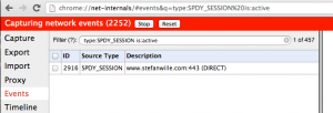 Live SPDY sessions in Google Chrome